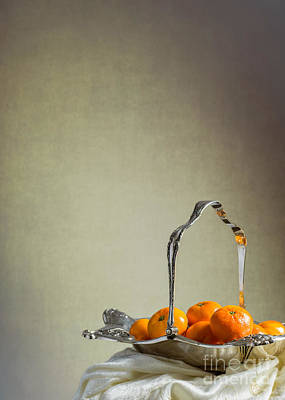 Silver-filled Photograph - Silver Fruit Basket by Amanda Elwell