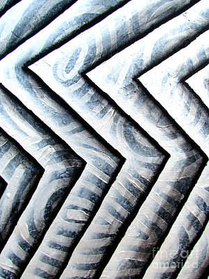 Painting - Silver Glass Waves Study 1  by Luke Galutia