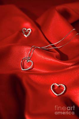 Sterling Silver Photograph - Silver Heart Pendants by Luigi Morbidelli