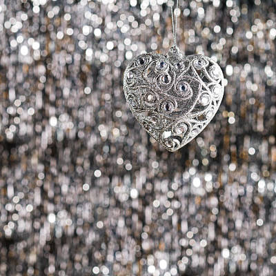 Photograph - Silver Heart by Ulrich Schade