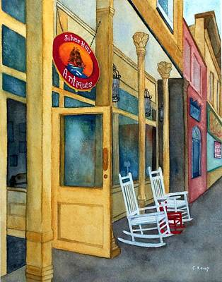 Painting - Silver Hills Antiques by Carolyn Koup