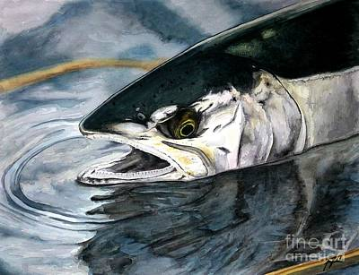 Chum Painting - Silver In The Salt by Jason Bordash