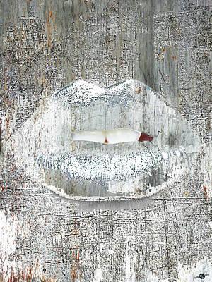 Mixed Media - Silver Kiss by Tony Rubino