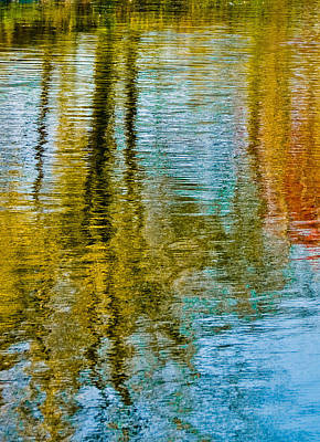 Silver Lake Autum Tree Reflections Art Print