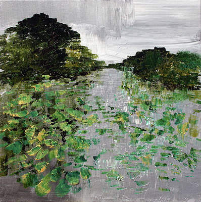Painting -  Silver Lake Norfolk Botanical Garden 2018-17 by Alyse Radenovic