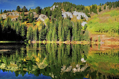 Photograph - Silver Lake Reflections by Donna Kennedy