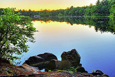 Photograph - Silver Lake Saugus Ma Breakheart Reservation At Sunset Reflection by Toby McGuire