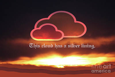 Digital Art - Silver Lining by Donna Munro