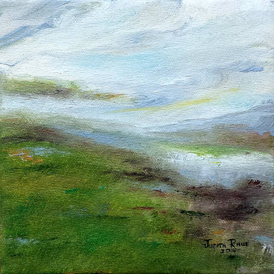 Painting - Silver Linings Await by Judith Rhue