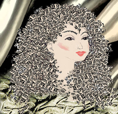 Painting - Silver Locks by Belinda Threeths