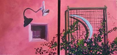 Painting - Silver Moon Barrio Block 1 N 2       7 by Cheryl Nancy Ann Gordon