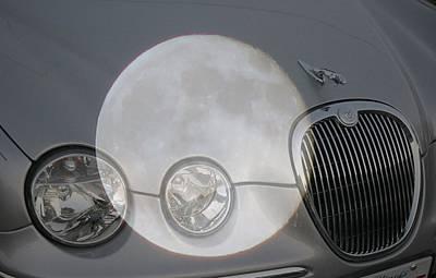 Silver Moon Jaguar Art Print by J R   Seymour