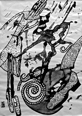 Archetype Painting - silver Earth Muses by Tetka Rhu