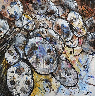 Painting - Silver Pennies by Zaira Dzhaubaeva