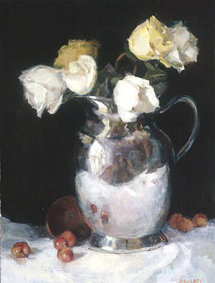 Silver Pitcher Painting - Silver Pitcher by Joan DaGradi