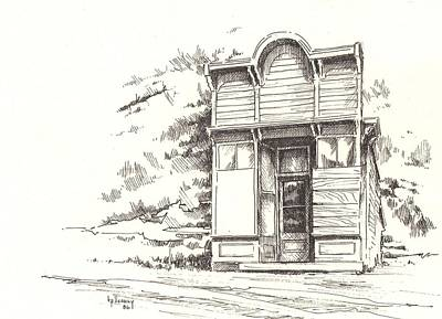 Drawing - Silver Plume Ghost Town Colorado by Kevin Heaney