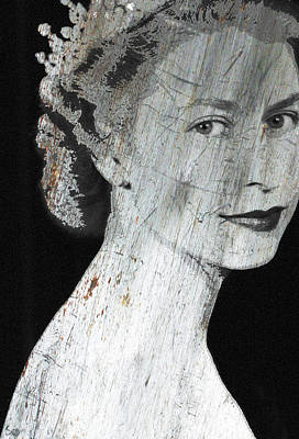 Mixed Media - Silver Queen Elizabeth  by Tony Rubino