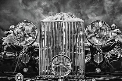 Photograph - Silver Rolls Royce by Aleksander Rotner