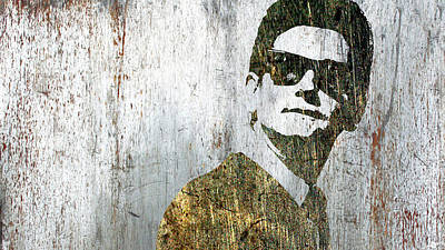 Mixed Media - Silver Roy Orbison by Tony Rubino