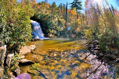 Photograph - Silver Run Falls Cashiers Nc In Autumn by Lisa Wooten