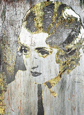 Mixed Media - Silver Screen Bette Davis by Tony Rubino
