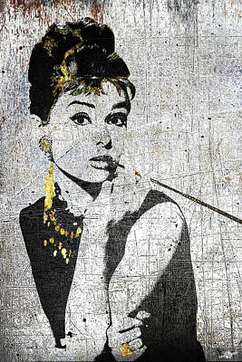 Mixed Media - Silver Screen Breakfast At Tiffany's by Tony Rubino