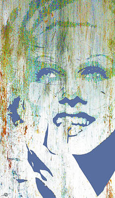 Mixed Media - Silver Screen Jean Harlow  by Tony Rubino