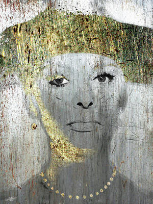Mixed Media - Silver Screen Sophia Loren by Tony Rubino