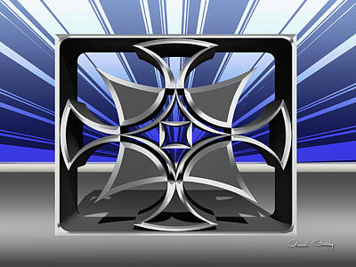 Digital Art - Silver Sculpture 3 by Chuck Staley