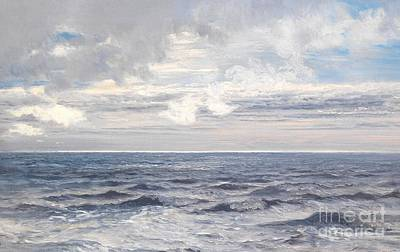 Clouds Painting - Silver Sea by Henry Moore