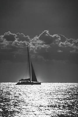 Photograph - Silver Sea Sailboat Delray Beach Florida by Lawrence S Richardson Jr