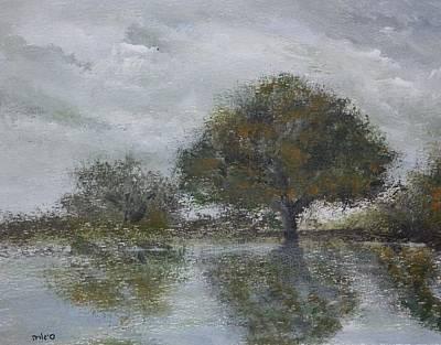 Wildwood Park Painting - Silver Sky by Yossi Sigura