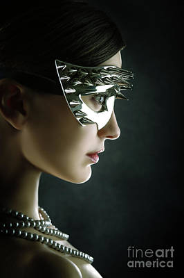 Photograph - Silver Spike Beauty Mask by Dimitar Hristov