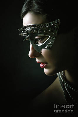 Art Print featuring the photograph Silver Spike Eye Mask by Dimitar Hristov
