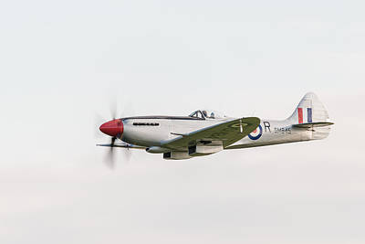 Photograph - Silver Spitfire Fr Xviiie by Gary Eason