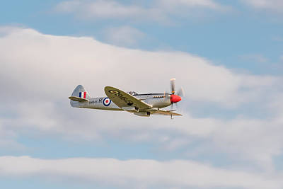 Photograph - Silver Spitfire by Gary Eason
