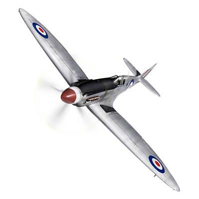 Photograph - Silver Spitfire Pr Xix Cutout by Gary Eason