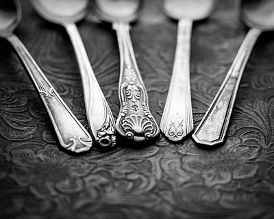Silver Spoon Photograph - Silver Spoons by Jon Woodhams