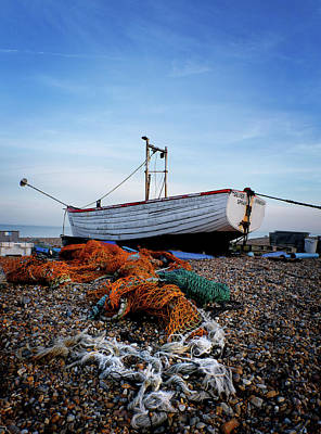 Photograph - 'silver Spray' Fishing Boat by David Calvert