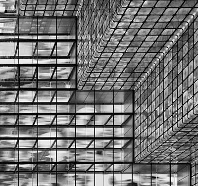 Silver Squares Art Print by Greetje Van Son