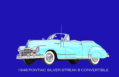 Painting - Silver Streak Pontiac by Jack Pumphrey