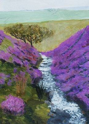 Twelfth Painting - Silver Stream Beneath The Heather by Nigel Radcliffe