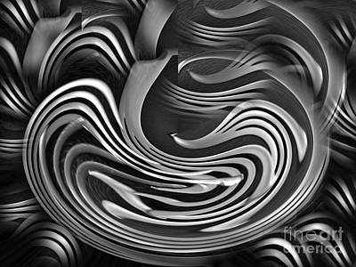 Photograph - Silver Swirl by Kelly Holm