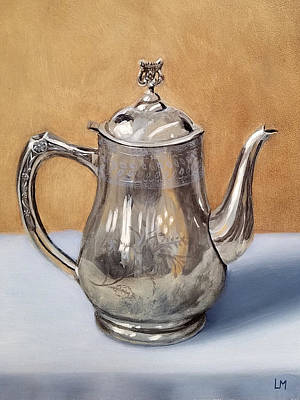 Painting - Silver Teapot by Linda Merchant