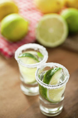 Food And Beverage Photograph - Silver Tequila, Limes And Salt by by Marion C. Haßold, www.marionhassold.com