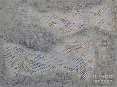 Relief - Silver Texture 1 by Diane montana Jansson