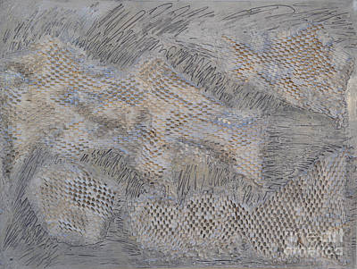 Relief - Silver Texture 2 by Diane montana Jansson