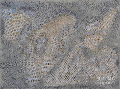 Relief - Silver Texture 3 by Diane montana Jansson