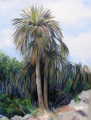 Painting - Silver Thatch Palms by Michel McNinch