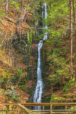 Photograph - Silver Thread Falls In Morning Light by Angelo Marcialis